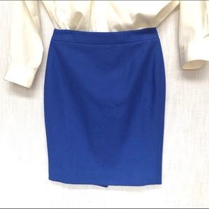 J. Crew Purplish Blue Wool Pencil Skirt, 2